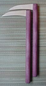 purpleheart and maple kama