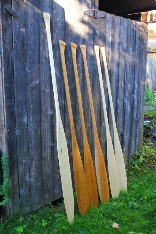 Standard size paddles ready-made