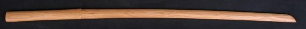 Hickory bokken with shoulder for tsuba